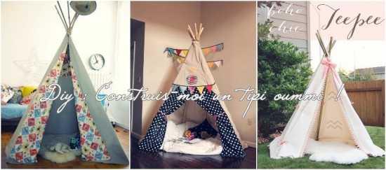 diy construire un joli tipi pour enfant oummi materne. Black Bedroom Furniture Sets. Home Design Ideas