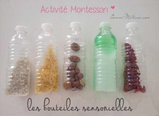 Activité Montessori : Les bouteilles sensorielles