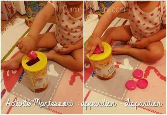Activité Montessori : apparition – disparition