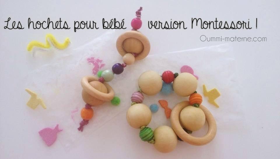 Les hochets pour b b version montessori oummi materne - Creer un doudou pour bebe ...
