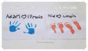 Activité manuelle : les empreintes de votre bébé