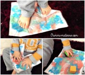Activité d'inspiration Montessori : la peinture propre