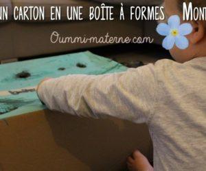 Recycler un carton en une boîte à formes Montessori
