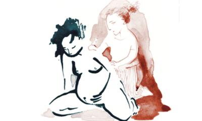 accouchement naturel de maman et bébé