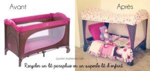 Recycler un lit parapluie en un superbe lit d'enfant