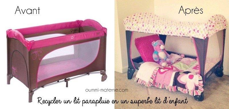 recycler un lit parapluie en un superbe lit d enfant oummi materne le blog d 39 une famille. Black Bedroom Furniture Sets. Home Design Ideas