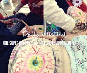 Belly painting, une super activité en famille autour du ventre rond
