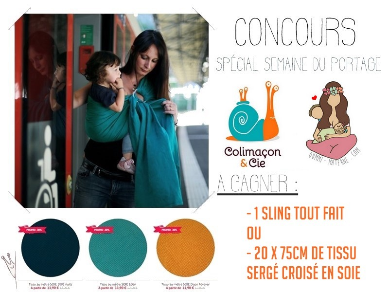 [Concours spécial Semaine du portage] Gagne un sling Colimaçon & cie !