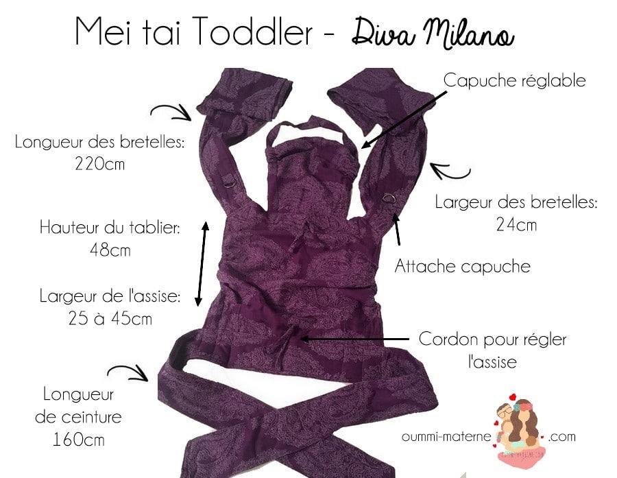 J'ai testé pour vous: le Mei tai toddler de Diva Milano