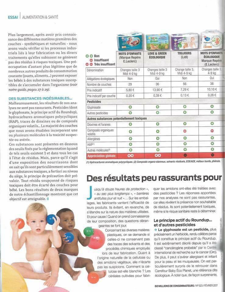 Des Substances Toxiques Dans La Plupart Des Couches Oummi Materne