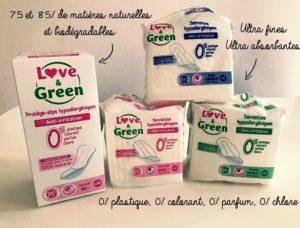 [Test & découverte] La nouvelle gamme hygiène féminine Love and Green